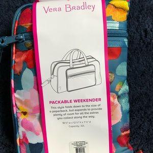 NWT Vera Bradley packable weekender floral pattern